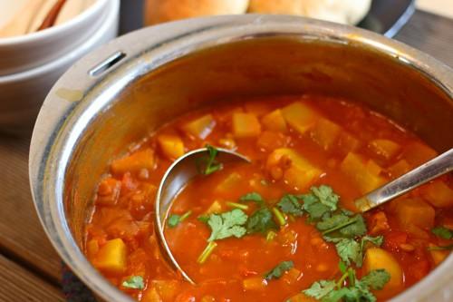 lentil & daikon stew