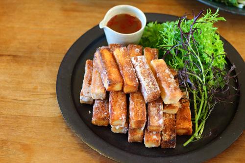 高野豆腐の唐揚げとアジアンソース